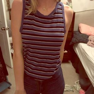 American Eagle Soft and Sexy Striped Tank